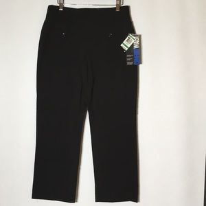 NWT Black Comfort waist straight leg woman's pants